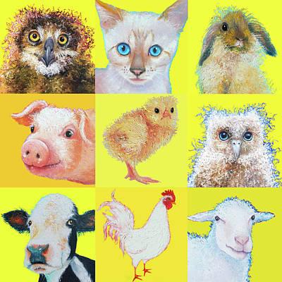 Pig Painting - Animal Art For Nursery Decor by Jan Matson