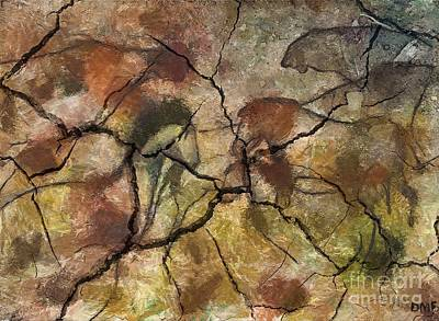 Cave Art Painting - Animals From Chauve Cave by Dragica  Micki Fortuna