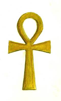 Ankh Painting - Ankh   by Michael Vigliotti