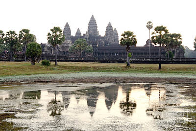 Photograph - Angkor Wat Reflection Tom Wurl by Tom Wurl