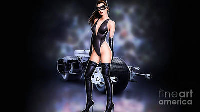 Ann Hathaway Collection Print by Marvin Blaine