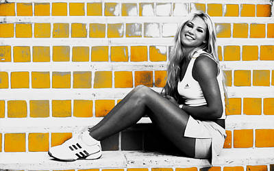 Australian Open Mixed Media - Anna Kournikova by Brian Reaves