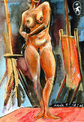 Anna Nude Print by Ion vincent DAnu