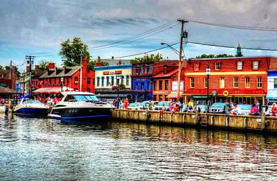 Annapolis City Docks Print by Debbi Granruth