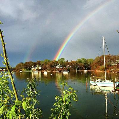 Annapolis Double Rainbow Print by Angelica Demiris
