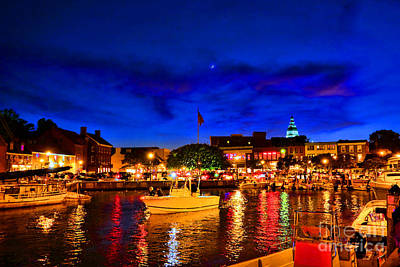 Gathering Photograph - Annapolis Magic Night by Olivier Le Queinec