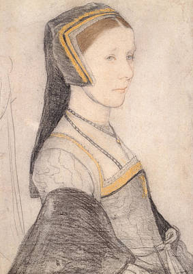 Northern Drawing - Anne Cresacre by Hans Holbein the Younger