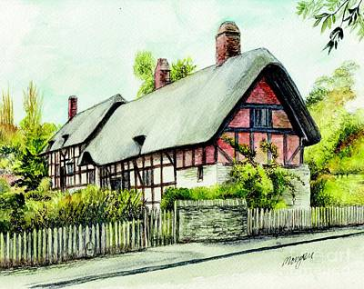 Stratford Painting - Anne Hathaway Cottage England by Morgan Fitzsimons