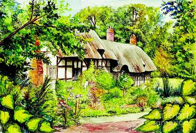 Stratford Painting - Anne Hathaways Cottage  by Morgan Fitzsimons
