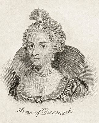 Anne Of Denmark 1574-1619 Queen Consort Print by Vintage Design Pics