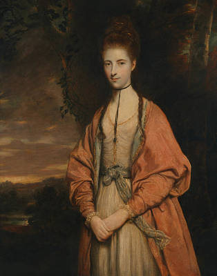 18th Century Painting - Anne Seymour Damer  by Joshua Reynolds