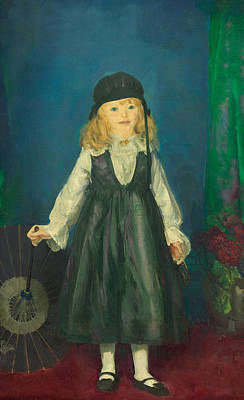 Anne With A Japanese Parasol Print by George Bellows