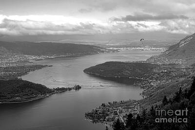Chateau Photograph - Annecy Lake by Olivier Le Queinec