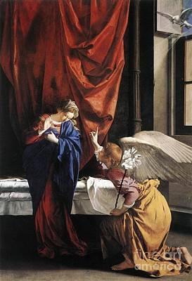Annunciation Print by Orazio Gentileschi
