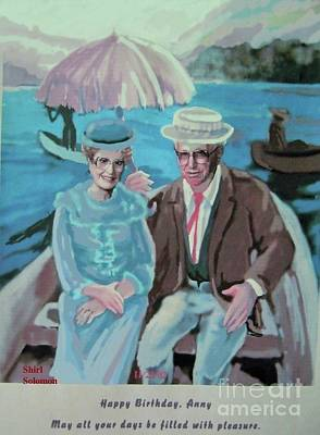 Row Boat Drawing - Anny And Jona by Shirl Solomon