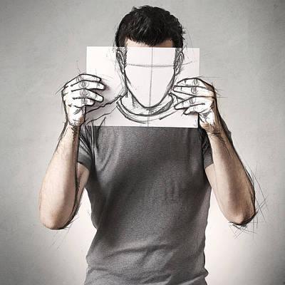 Anonymous Sketch Print by Sebastien Del Grosso