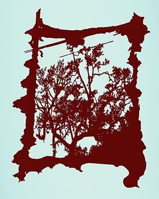 Another Creepy Tree Print by Kristin Sharpe