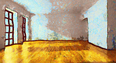 Another Empty Room In My Head  - Painting Original by Sir Josef Social Critic - ART