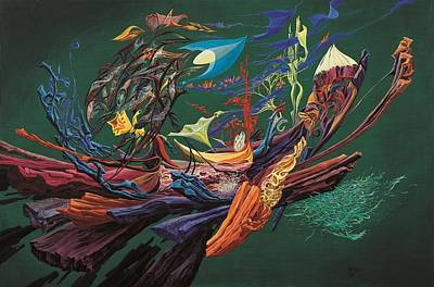 Abstract Painting - Another Flight Of Fancy by Charles Cater
