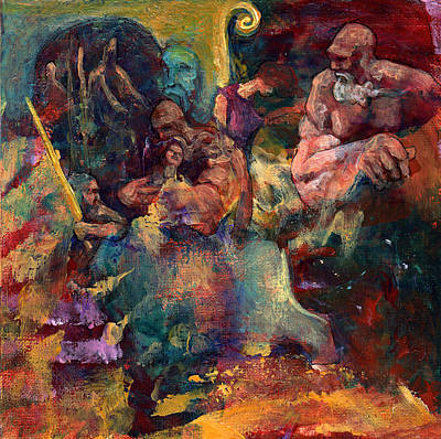 Minotaur Painting - Another Forced Rescue by David Matthews