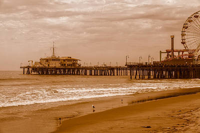 Rollercoaster Photograph - Another Great Day At The Seashore - Santa Monica by Gene Parks
