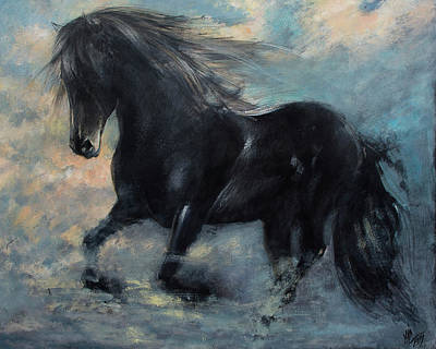 Horse In The Run Painting - Another Kind Of Flight by Vali Irina Ciobanu