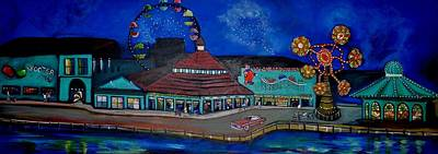 Asbury Park Painting - Another Memory Of The Palace by Patricia Arroyo