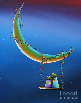 Swing Painting - Another Moonlight Serenade by Cindy Thornton