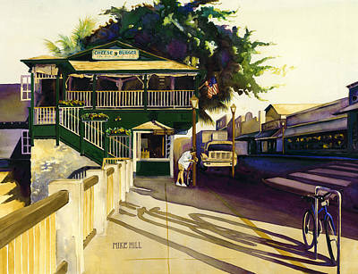 Mike Hill Painting - Another Morning In Maui by Mike Hill