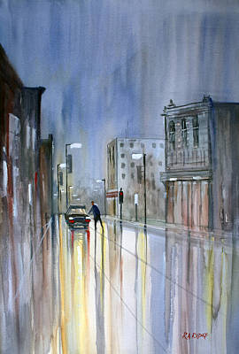 Figures Painting - Another Rainy Night by Ryan Radke