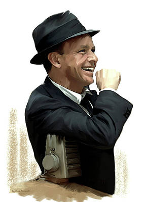Frank Sinatra Drawing - Another Side Of  Frank Sinatra by Iconic Images Art Gallery David Pucciarelli