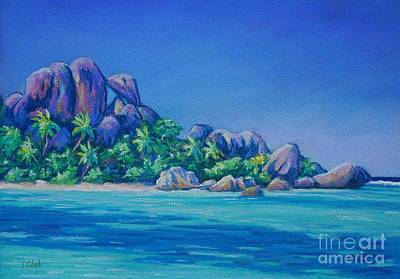 Argent Painting - Anse Source D'argent La Digue by John Clark