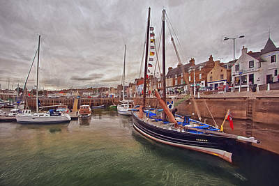 Anstruther Harbor Print by Marcia Colelli