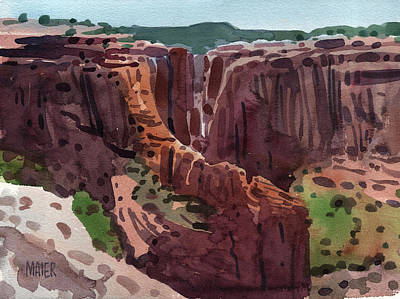Canyon Painting - Antelope House Overlook 2006 by Donald Maier