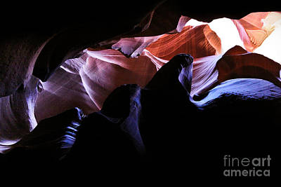Antelope Slot Canyons Print by Ryan Kelly