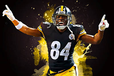 Antonio Brown Print by Semih Yurdabak