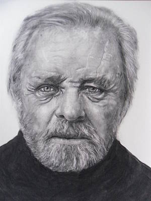 Anthony Hopkins Print by Adrienne Martino