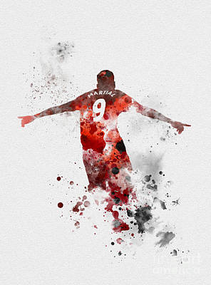 Soccer Mixed Media - Anthony Martial by Rebecca Jenkins