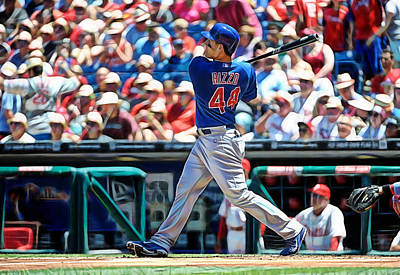 Anthony Rizzo Print by Marvin Blaine