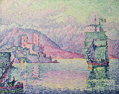 Water Reflections Painting - Antibes by Paul Signac