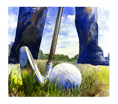 Golf Painting - Anticipation by Andrew King
