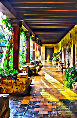 Hallway Digital Art - Antigua by Carey Chen