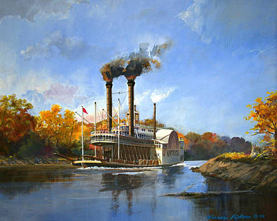 Mississippi River Painting - Antioch On The Mississippi by Werner Pipkorn
