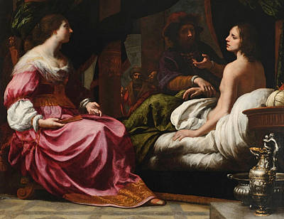 Felice Ficherelli Painting - Antiochus Prince Of Syria And Stratonice His Stepmother by Felice Ficherelli