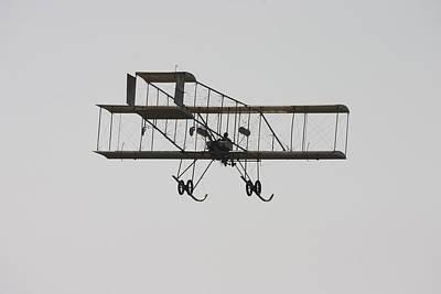 Antique 1910 Henri 3 Biplane  Airplane Takes Flight Poster Print Print by Keith Webber Jr