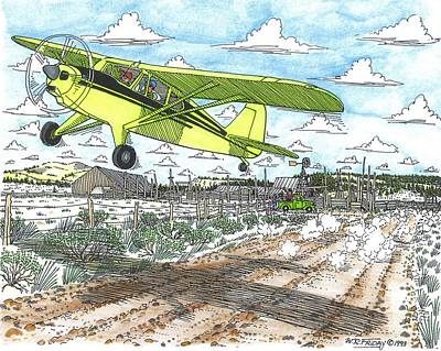 Antique Airplane Taking Flight Print by Bill Friday