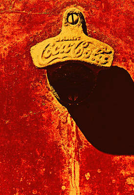 Coca-cola Sign Photograph - Antique Bottle Opener 3 by Stephen Anderson