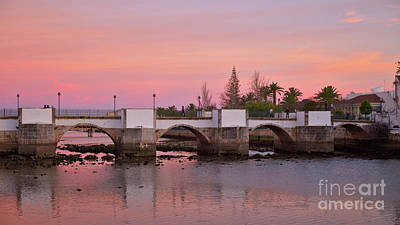 House Photograph - Antique Bridge Of Tavira During Twilight. Portugal by Angelo DeVal