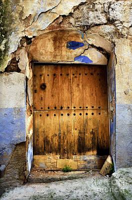Teruel Photograph - Antique Brown Door by RicardMN Photography