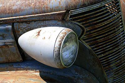 Antique Car Headlight Print by Douglas Barnett